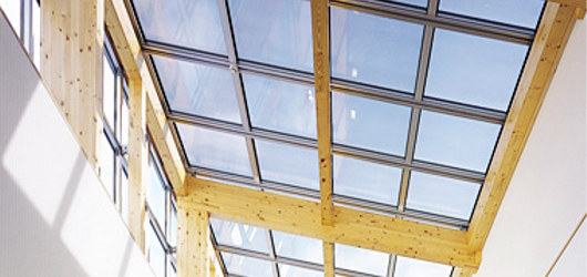 Transparent BIPV Roofs