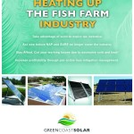 Flyer to show the benefits of solar thermal for the fish farm industry